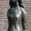 Statue of Anne Frank amsterdam holland — Stock Photo #13414441