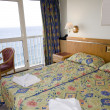 Stock Photo: Seaview hotel room malta