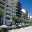 Condominiums along sliema malta waterfront — Stock Photo
