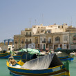 Marsaxlokk ancient fishing village malta mediterranean — Stock Photo