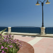 Garden seaside boulevard sliema malta — Stock Photo