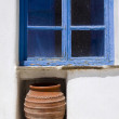 Greek island window scene - Photo