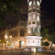 Clock tower night guayaquil ecuador - Stock Photo