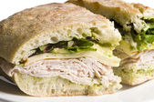 Gourmet turkey sandwich — Stock Photo