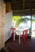Praia de Nicarágua restaurante nativo milho ilha — Fotografia Stock