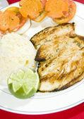 Grillowany filet kurczaka Ameryka — Zdjęcie stockowe