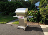 Stainless steel barbecue grill — Stock Photo
