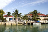 Florida keys canal scene — Stock Photo