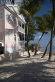 Typical house home architecture beach key west florida — Stock Photo