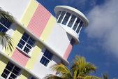 Architektur hotel fassade south beach miami florida — Stockfoto