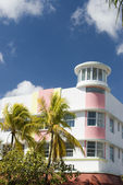 Art deco hotel south beach miami — Foto de Stock