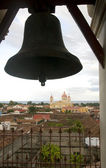 Bell tower La Merced Church view of Cathedral of Granada Nicaragua — Stock Photo