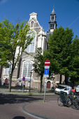 Westerkerk wester church amsterdam holland — Stockfoto