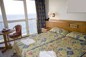Seaview hotel room malta — Stock Photo