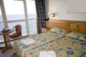 Seaview hotel room malta — Stock Photo