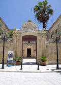 Entry gate vilhena palace mdina malta — ストック写真