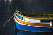 Antiguo barco malta pueblo mediterráneo de pesca marsaxlokk — Foto de Stock