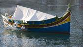 Malta luzzu fishing boat — Stock Photo