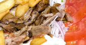 Gyro plate dinner greece — Stock Photo
