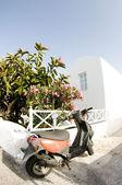 Grekiska ön hus arkitekturen Kykladerna — Stockfoto