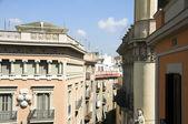 На крыше архитектуры Ла Рамбла, Готический район Барселона Испания — Стоковое фото