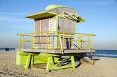 Знаковых спасатель станции Хат Южной Бич Майами Флорида — Стоковое фото