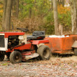 Stock Photo: Tractor mower with hitch antique