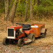 Royalty-Free Stock Photo: Tractor mower with hitch antique