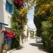 Street scene Sidi Bou Said Tunisia - Stock Photo