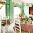 Stockfoto: Interior typical restaurant CaribbeSt. Lucia