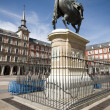 Постер, плакат: Statue Plaza Mayor Madrid Spain King Philips III