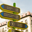 Street sign historic district Madrid Spain — Stock Photo #13422080
