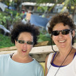 Middle age female tourists Corn Island Nicaragua — Stock Photo