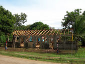 Editorial construction rebuild school rural nicaragua — Stock Photo