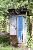 Outhouse toilet bathroom zinc house nicaragua — Stock Photo