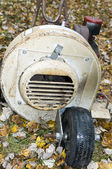 Old rusty leaf blower — Stock Photo