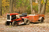 Tractor mower with hitch antique — Stock Photo