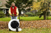 Professional leaf blower — Stock Photo
