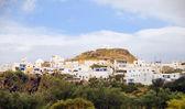 Ilha grega de milos panorama de plaka paisagem — Foto Stock