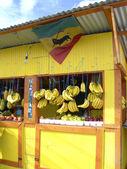 生产水果站在斯卡伯勒特立尼达和多巴哥 — 图库照片