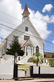 First Baptist Church with tropical tree La Loma town department of San Andres Providencia and Catalina Island Colombia South America — Stock Photo