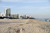 Miami Beach-Landschaft hoch steigen Hotels florida — Stockfoto