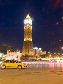 Clock Tower ave Habib Bourguiba Ville Nouvelle Tunis Tunisia Afr — Stock Photo