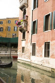 Hermoso paisaje veneciano romántico — Foto de Stock