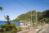 Waterfront Park Harbor Soufriere St. Lucia Caribbean — Stock Photo