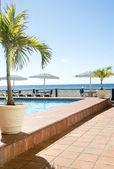 Schwimmbad-karibik-barbados — Stockfoto