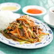 Rice with fried duck and vegetables — Stock Photo #19416947