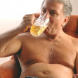 Stock Photo: Beer belly