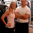 Fitness couple — Stock Photo