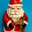 Happy ceramic santa — Stock Photo